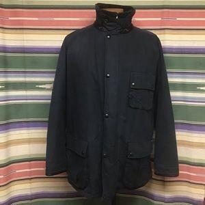 Euc Polo blue Oil Cloth jacket sz XL